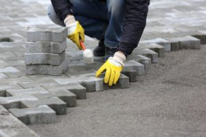 Concrete pavers installation